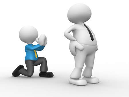 begging: 3d people - man, person knees. Begging for forgiveness. Forgive me Stock Photo