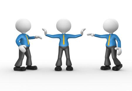 talking businessman: 3d gente - hombre, Hablar persona. Hombre de negocios separados.