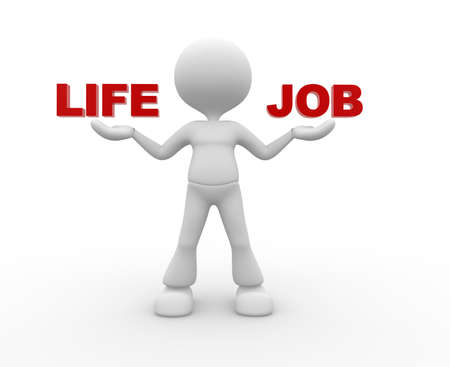 3d people - man , person with concept of balance in life and job Stock Photo - 20238552