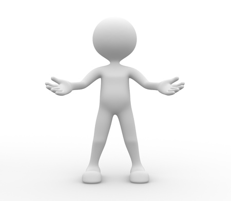 Persone 3d - uomo, persone - benvenuto gesto Archivio Fotografico - 20569220