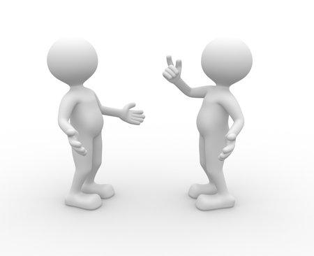 3d people - men, person talking  Imagens