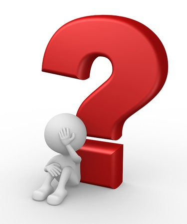 3d people - man, person and big question mark  Stock Photo