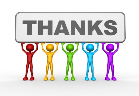 3 d の人々 - 人、人と感謝の言葉