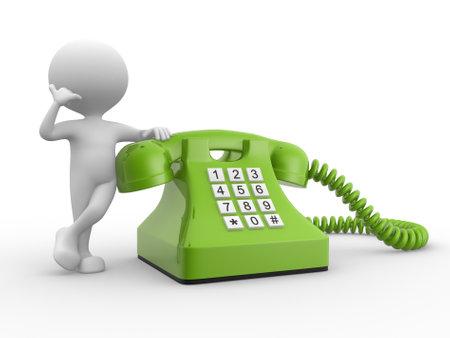 3d les gens - homme, personne et le téléphone Banque d'images - 21358983