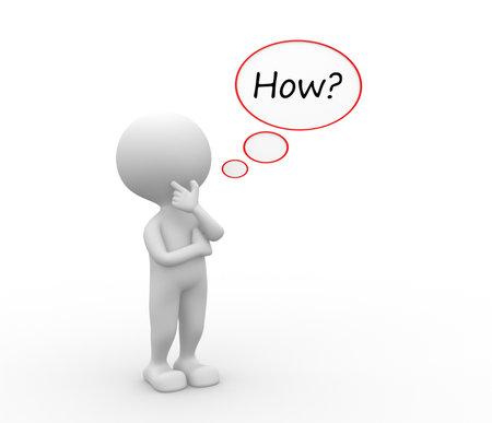 3D 사람 - 사람, 거품과 질문 방법에 사람이?
