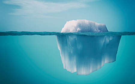 美しい透明な海の氷山の水中ビュー背景.これは 3 d レンダリング図です。 写真素材