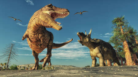 3D render dinosaurus. Dit is een 3d render illustratie. Stockfoto
