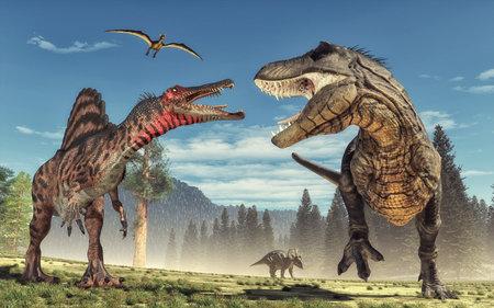 3 d レンダリングの恐竜。これは、3 d レンダリング図です。