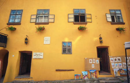 The house where he lived Vlad - demon  of the Fortress Sighisoara in Romania, Transylvania