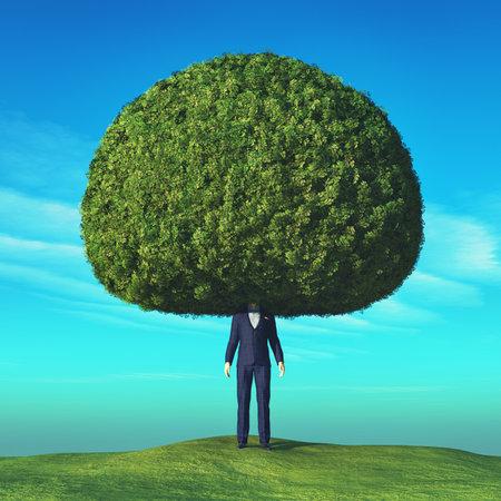 Image conceptuelle d'un arbre. Ceci est une illustration de rendu 3D Banque d'images - 84188248