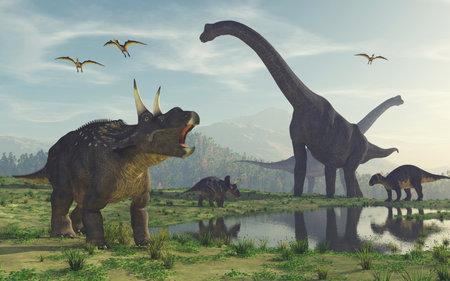 3D render dinosauro. Questo è un rendering 3d Archivio Fotografico