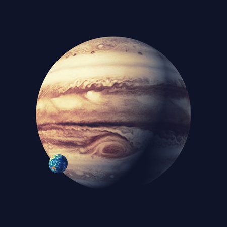 The jupiter planet. This is a 3d render illustration Stock Photo