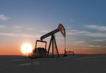 The petroleum pump. This is a 3d render illustration Stock Photo