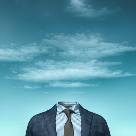 Biznesmen bez głowy. ilustracja renderowania 3d Zdjęcie Seryjne