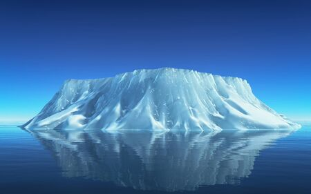 Iceberg floating in the ocean . Ices and icebergs. Glacier lagoon.  South coast Iceland. This is a 3d render illustration