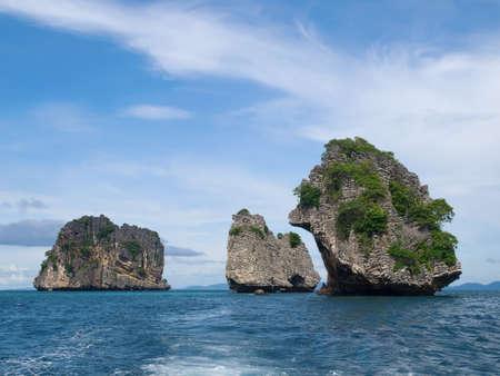 Islands in te sea Stock Photo