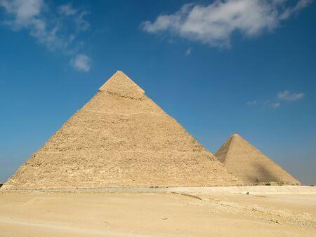 chephren: Pyramid of Chephren in Giza  Egypt