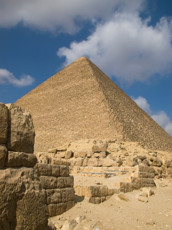 cheops: Pyramid of Cheops in Giza  Egypt  Stock Photo