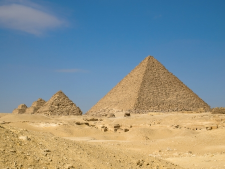 Pyramid of Menkaure in Giza  Egypt  Stock Photo