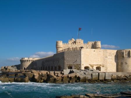 showplace: Citadel  Fort  of Qaitbay in Alexandria  Egypet
