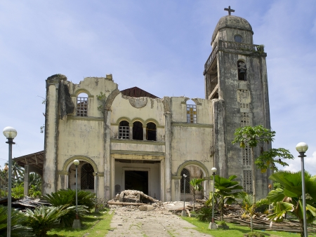 Collapsed church in Bohol  Earthquake in October 2013