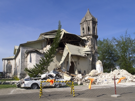 bohol: Collapsed church in Bohol  Earthquake in October 2013