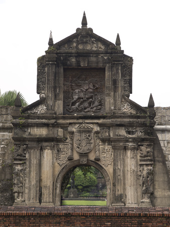 Fort Santiago in historical  district of Manila Stock Photo