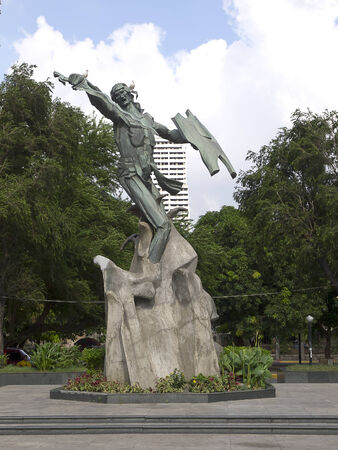 Monument of Rajah Sulayman in Manila (Philippines)