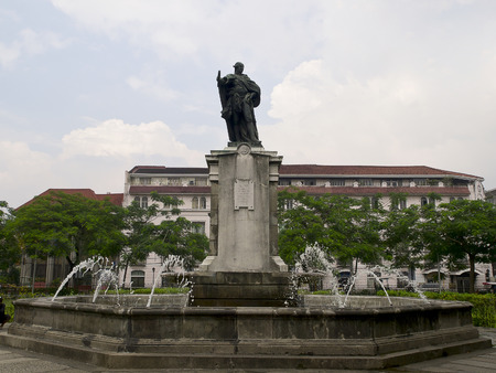 Statue of  King Carlos IV  in historical center Inramuros (Manila)