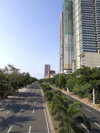 View of Roxas boulevard  in Manila (Philippines)