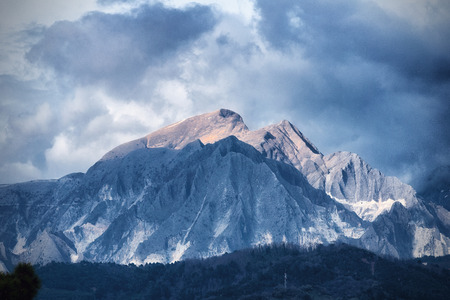 View of the Mt. Sagro, Apuan Alps (Italy)