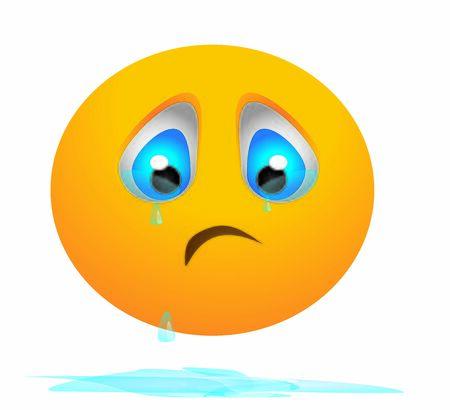 sad smiley crying