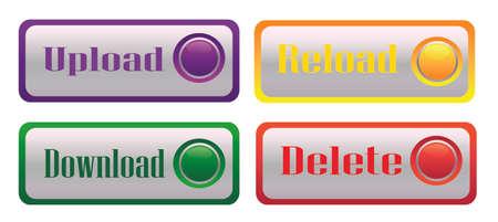 illustration set bright buttons for web-design