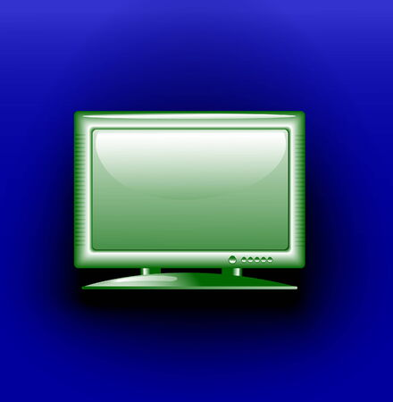 vector drawing of the TV on a dark blue background
