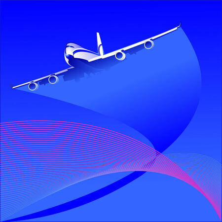 the plane Stock Vector - 4281807