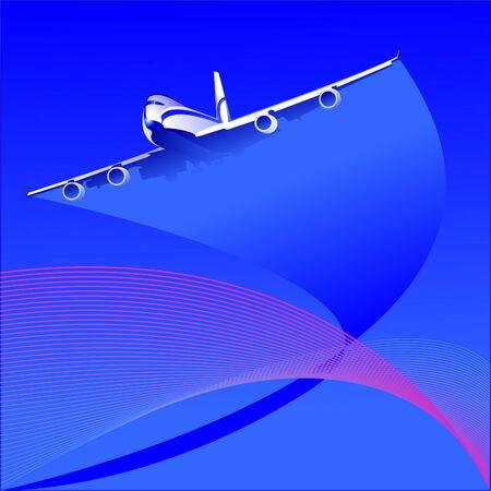 the plane Illustration