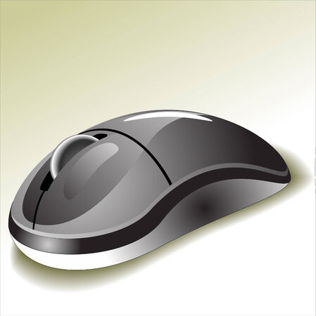 vector drawing of a computer mouse