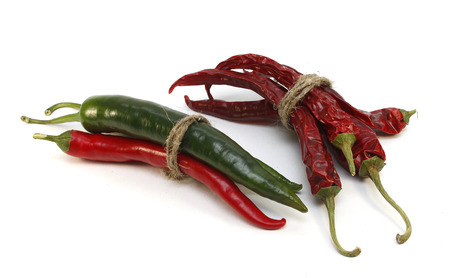 Spicy chili pepper isolated on white background photo