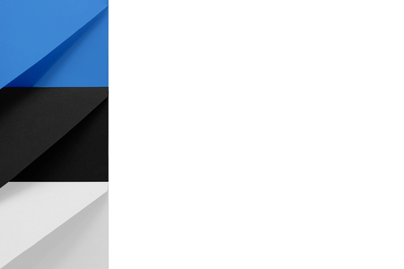 Multi colored envelopes lie together at the left and look like flag of Estonia