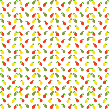 seamless: Pear seamless pattern. Vector illustration. Illustration