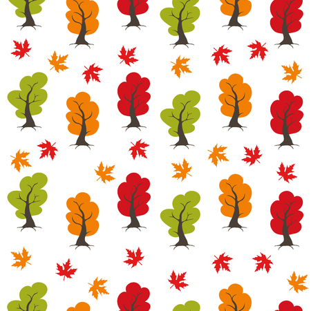 Seamless Autumn pattern, background. Set design element