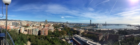 A panoramic view of Barcelona, Spain.
