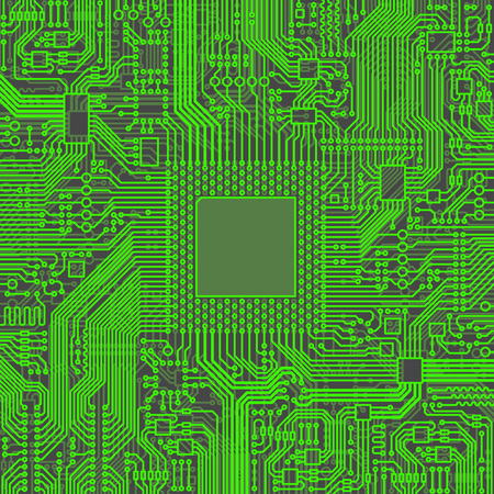 microchip: Cpu Microprocessor Microchip Vector illustration Illustration