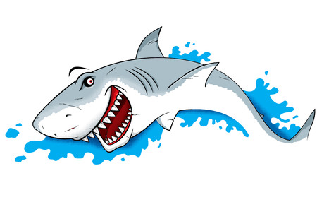 Danger Shark in water vector Illustration Illustration