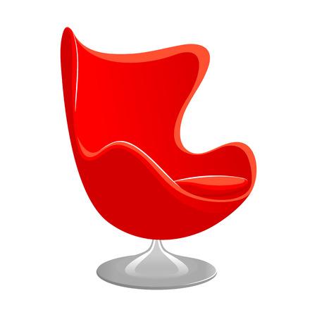 Red nowoczesny fotel. Meble sklepowe. Fotel stylu ilustracji wektorowych samodzielnie na białym tle Ilustracje wektorowe
