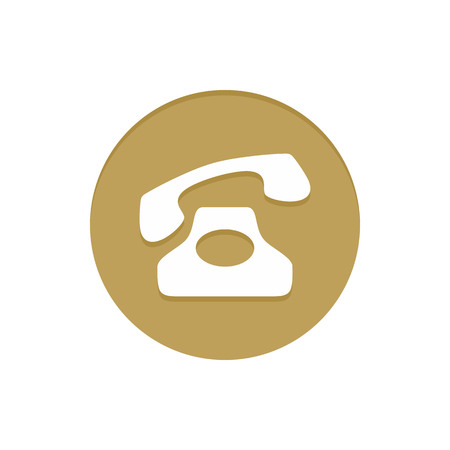 item icon: Gold Vector Icon Calling Telephone. Golden web icons collection item. Icon symbo vector illustration