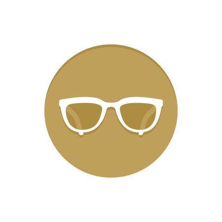 uv: Gold Vector Icon Eyeglasses. Golden web icons collection item. Icon symbo vector illustration