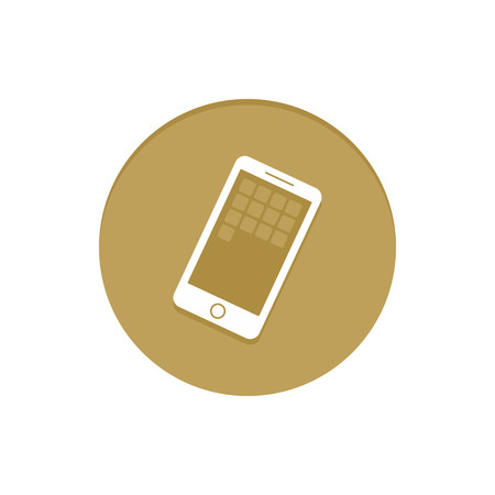 item icon: Gold Vector Icon Smartphone. Golden web icons collection item. Icon symbo vector illustration