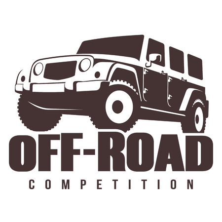 4x4: Off-road Competition emblem vector illustration. 4x4 car Illustration