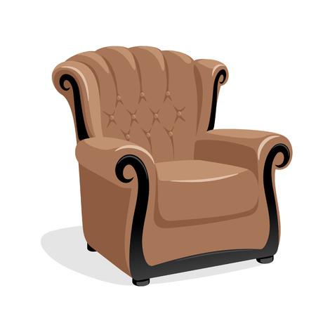 leather armchair: Classic leather armchair vector illustration